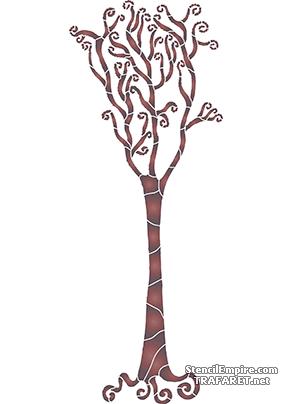Трафарет Спиральное дерево 2