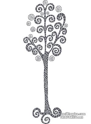 Трафарет Спиральное дерево 3