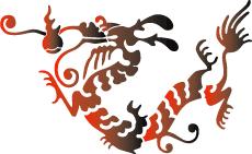 Восточный дракон (трафарет для стен)