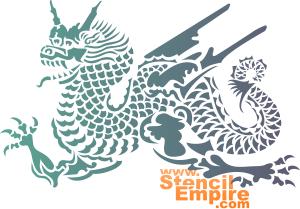 Летящий дракон (трафарет для покраски)