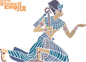 Египтянка (художественный трафарет)
