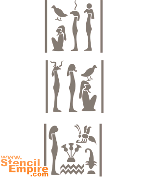 Иероглифы для Колонны (трафарет для покраски)