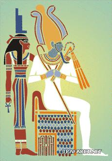 Исис и Осирис (художественный трафарет)