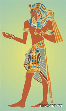 Фараон Тутанхамон (трафарет для росписи)