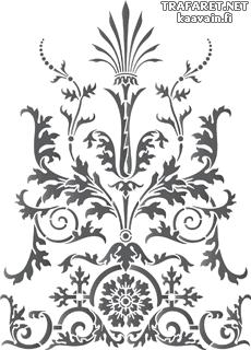 Вензель Ампир (трафарет для стен)