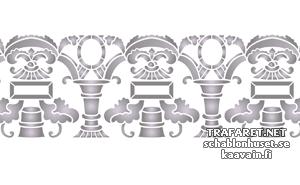 Трафарет Бордюр с колоннами