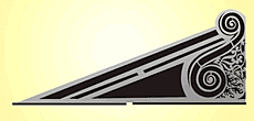 Угол крыши (трафарет для стен)
