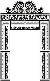 Дверной проем (трафарет для рисования)
