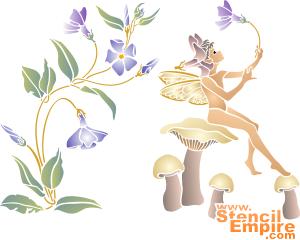 Эльф-барвинок (художественный трафарет)