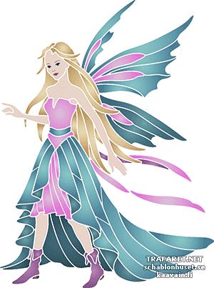Трафарет Голубая фея