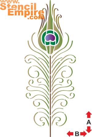 Павлинье перо 1 (трафарет для росписи)