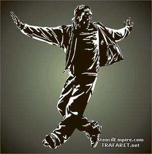 Трафарет Уличные танцы