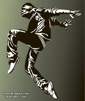 Трафарет Танцы на улице