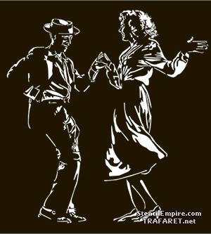 Трафарет для стен Танцующая пара