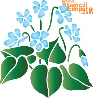Синий подснежник (трафарет для стен)