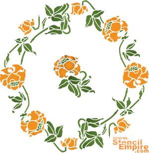 Маковая розетка (трафарет для росписи)