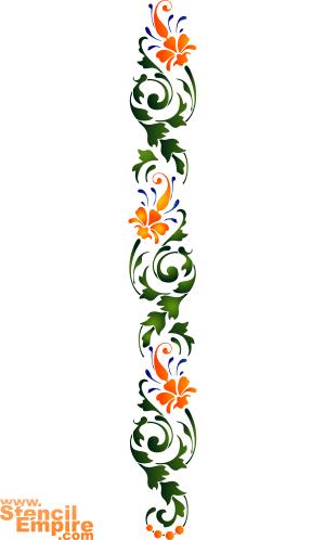 Ирисовый бордюр (трафарет для декора)