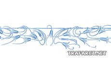 Заросли колокольчиков - бордюр (трафарет для декора)
