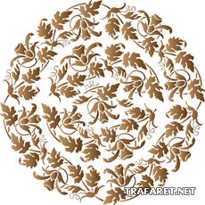 Колокольчиковый медальон 23 (трафарет для декора)