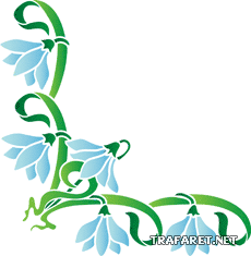 Подснежниковый угол (трафарет для рисования)