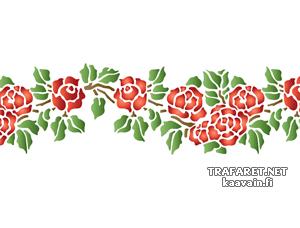 Розовый бордюр 41 (трафарет для рисования)