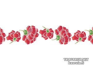Бордюр из розовых бутонов (трафарет для росписи)