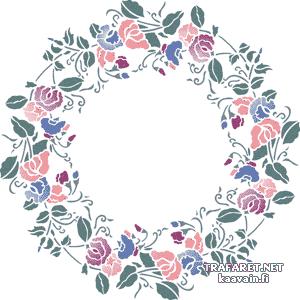 Цветочный круг 5 (трафарет для стен)