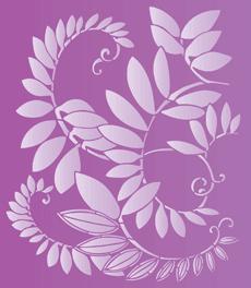 Лиственный орнамент (трафарет для покраски)