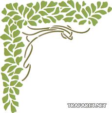 Зеленый угол (трафарет для декора)