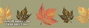 Бордюр из кленовых листьев