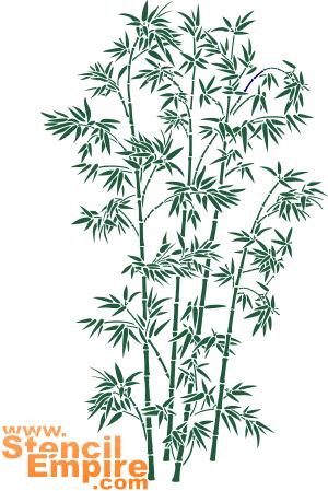 Большой бамбук (художественный трафарет)