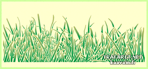 Бордюр из травы (трафарет для стен)