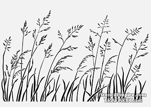Трафарет для стен Трава на ветру