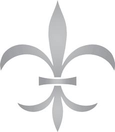Геральдическая лилия 11 (трафарет для покраски)