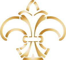 Геральдическая лилия 12 (трафарет для декора)