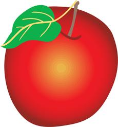 Яблоко (трафарет для рисования)