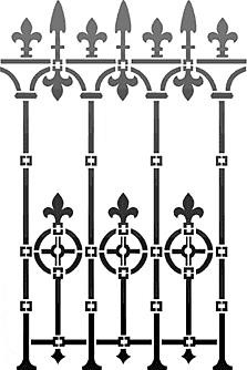 Ограда 2 (трафарет для рисования)