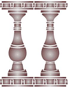 Балюстрада 1 (трафарет для покраски)