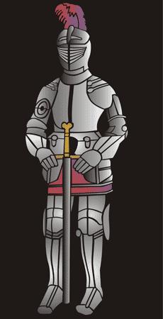 Рыцарь в латах (трафарет для декора)