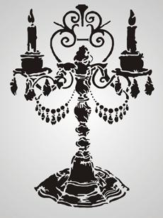 Канделябр 2 (трафарет для покраски)