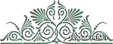 Греческий вензель 16 (трафарет для росписи)