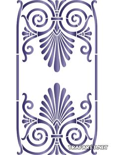 Греческий узор 17а (трафарет для росписи)