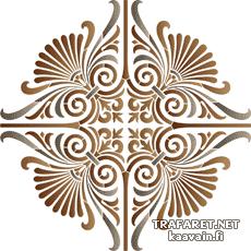 Греческий медальон 26 (трафарет для росписи)