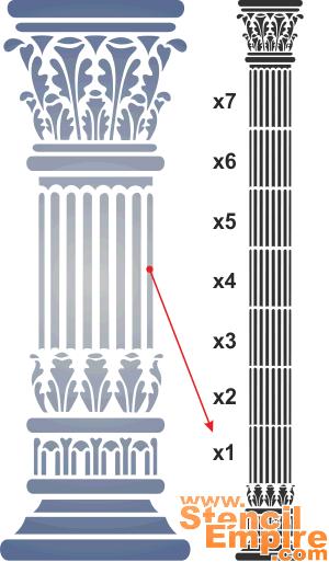Греческая колонна (трафарет для рисования)