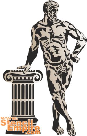 Геркулес (трафарет для покраски)