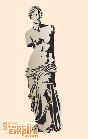 Венера Милоская (художественный трафарет)