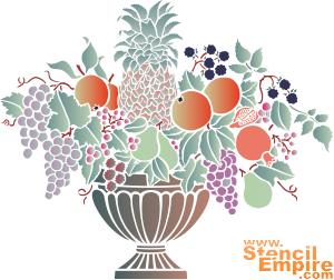 Ваза с фруктами (трафарет для росписи)