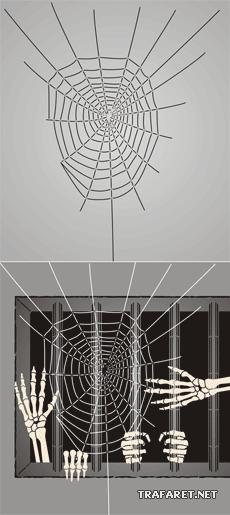 Дом с привидениями 2 (трафарет для рисования)