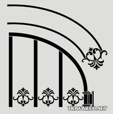 Половина верха ворот (трафарет для декора)