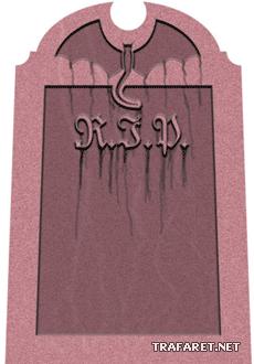 Надгробие 6 (трафарет для стен)